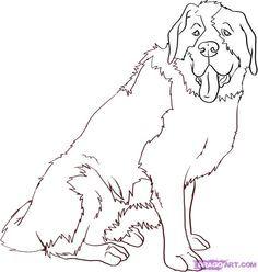 How To Draw A Saint Bernard By Dawn St Bernard Dogs Saint