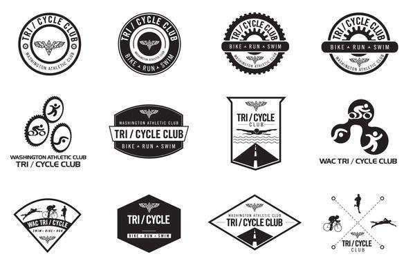 Tri Cycle Club Logo By Kelly Wang Via Behance Cycling Club Cycling Design Cycle