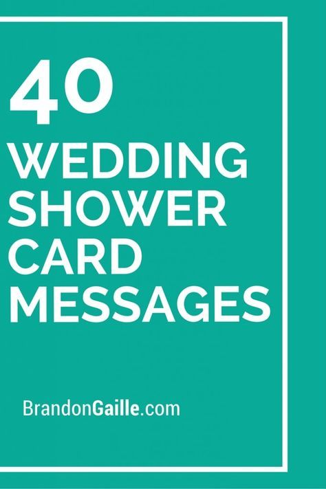40 wedding shower card messages