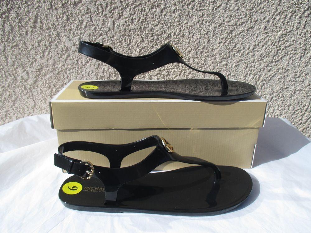 dc6a878e10b0 MICHAEL Michael Kors Shoes Sandals MK Plate Jelly PVC 45R6MKFA1Q Black Size  9  MichaelKors  Strappy  Casual