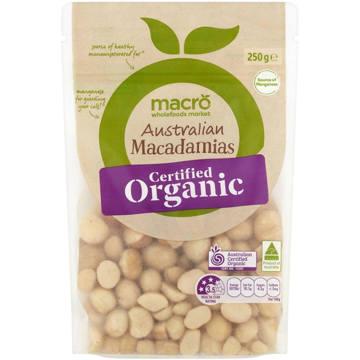 Macro Organic Raw Macadamia Nuts 250g Woolworths Organic Nuts Whole Food Recipes Macadamia