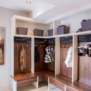 Mudroom Corner Lockers Design Ideas, Pictures, Remodel And Decor