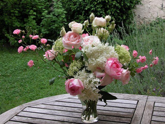 Bouquet rose champêtre   Joli bouquet de fleurs, Fleur ...