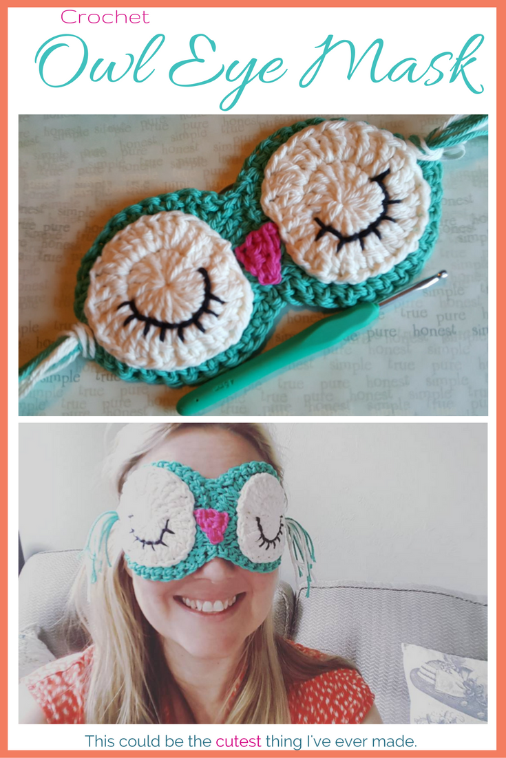 Crochet Owl Eye Mask | Häkeln, Minis und Villa kunterbunt