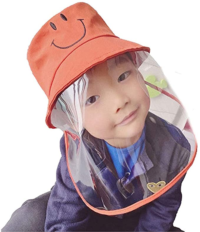 Kids Protective Hat Removable Full Face Shield Fisherman Hat For Children Safety Cover Windproof Dustproof Face Pro Fisherman Hat Face Protection Safety Cover