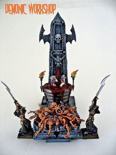 """Dark Elves diorama from """"Demonic Workshop"""""""