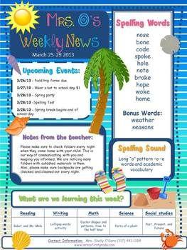 editable beach theme elementary newsletter beach theme classroom