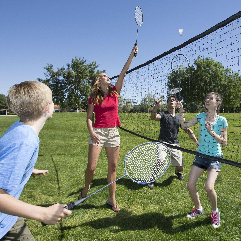 Premium Badminton Volleyball Combo Badminton Tennis Photography Backyard Trampoline