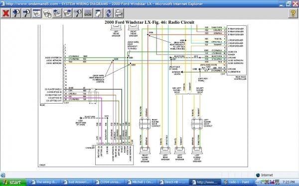2001 Ford Windstar Radio Wiring Diagram - Wiring Diagrams