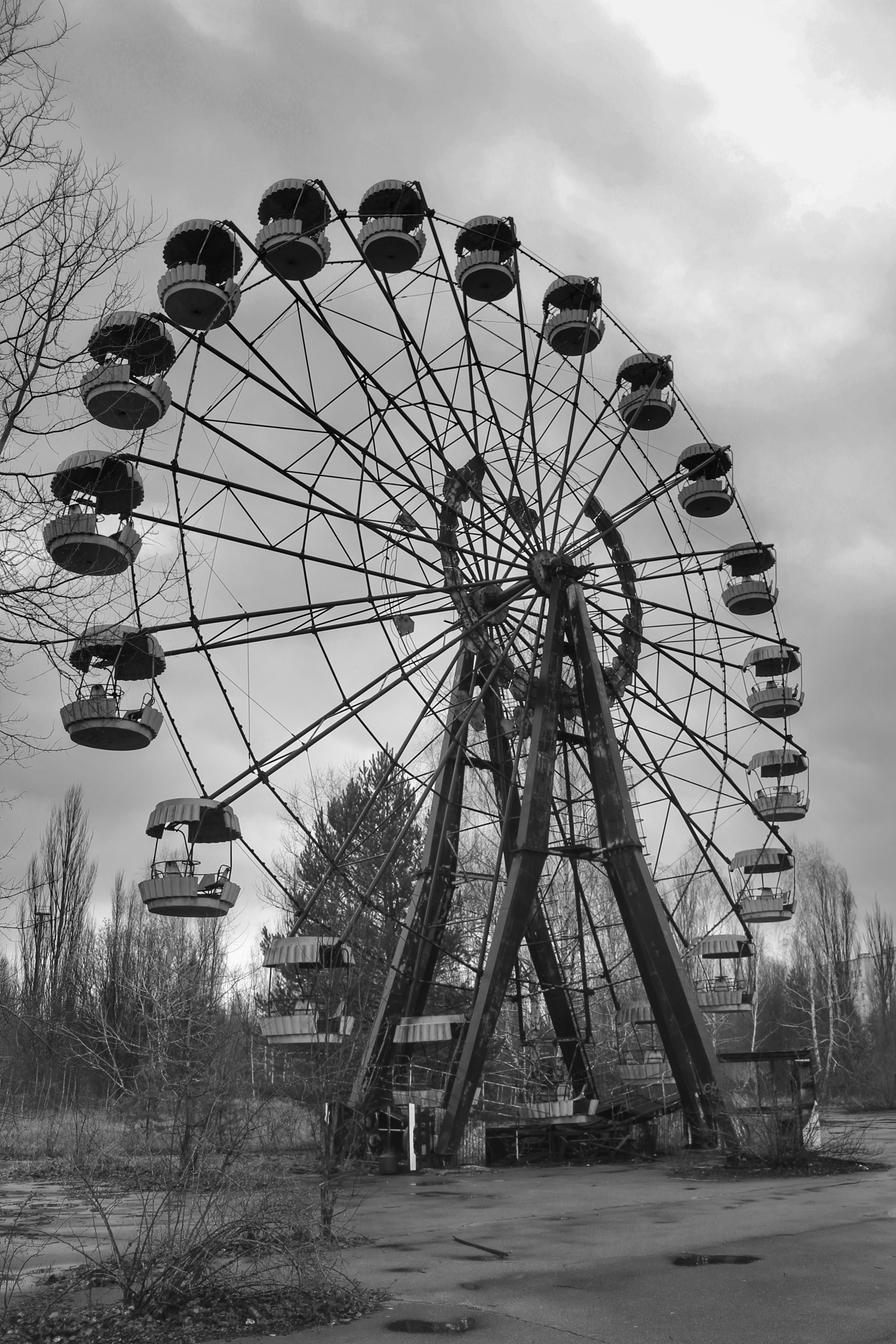 Ferris wheel in Pripyat Ukraine was really awesome to