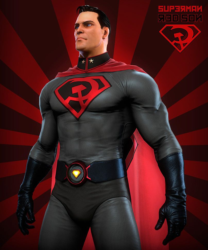 3d Art Superman Red Son 3d Concept Art Sci Ficoolvibe Digital Art Superman Red Son Superman Superhero Design