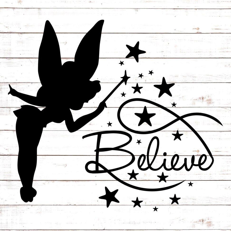Tinkerbell Believe 1 Cricut svg files free, Fairy