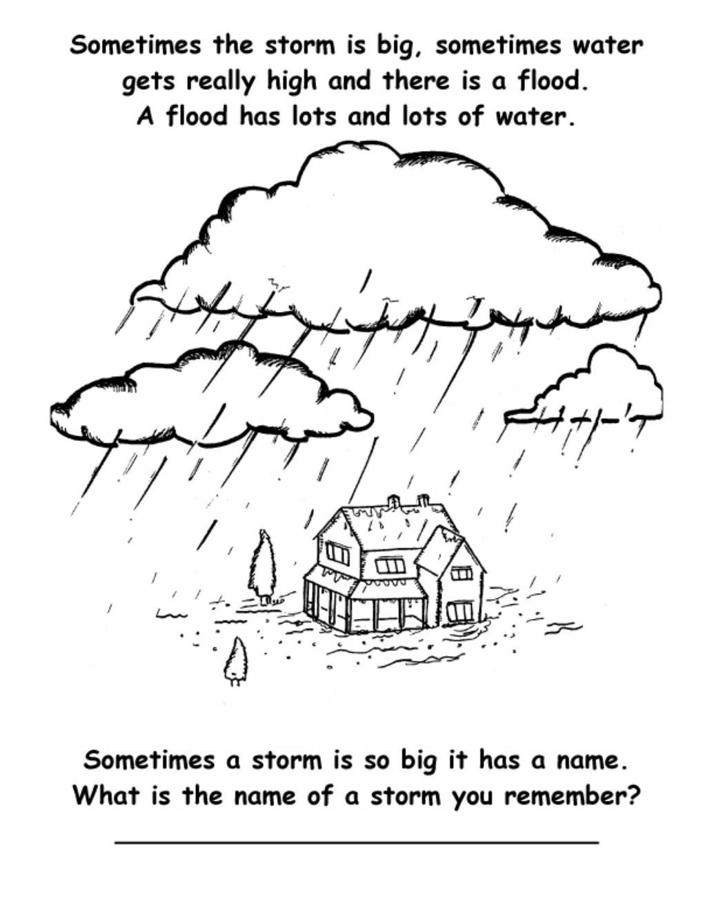 Free Superstorm Sandy Coloring Book Can Help Kids Cope Helping Kids Flood Coloring Books