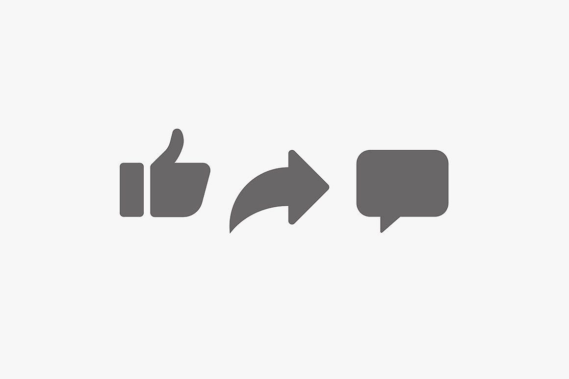 Vector Like Comment Share Icon Set Share Icon Icon Set Youtube Banner Backgrounds
