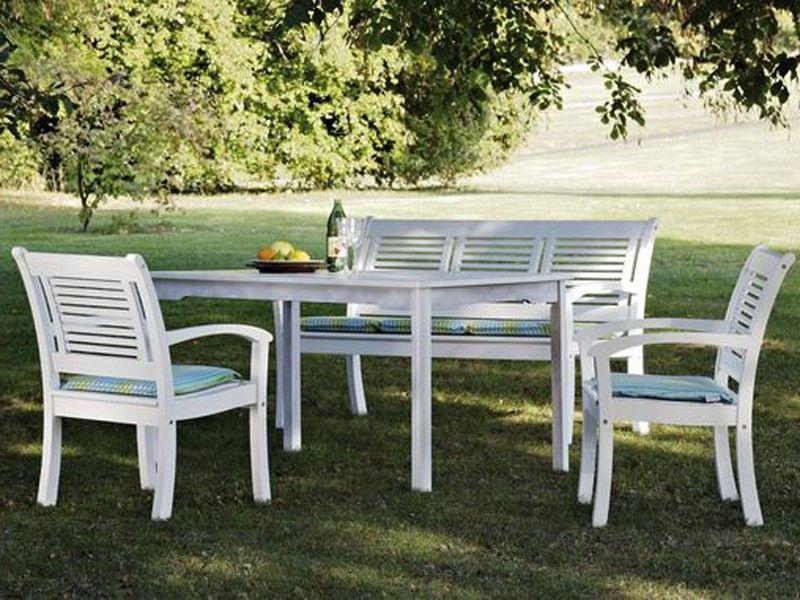 Gartenmöbel Set Holz Weiß ~ Genial gartenmöbel set holz weiß deutsche deko