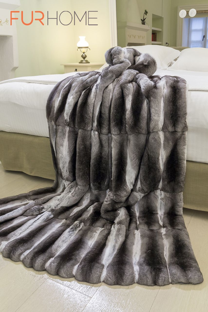 Real Chinchilla Fur Bed Cover This throw is angelic to the touch and is  softer than 09e110575