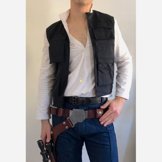 Star Wars IV ANH A New Hope Han Solo Cosplay Costume Vest Only High Quality