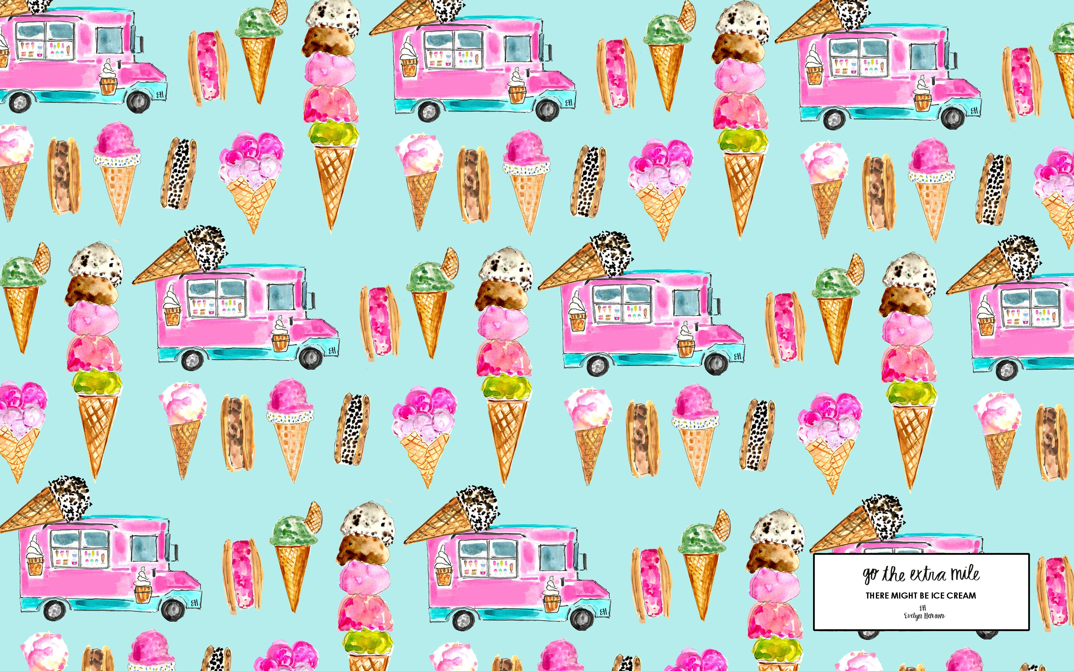 Desktop Backgrounds Ice And Cream On Pinterest With Images