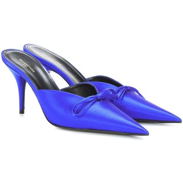 Discount Get To Buy Knife Satin Slingback Pumps - Royal blue Balenciaga Hot Sale Discount Recommend Cheap Sale Good Selling Cheap Official Site XlRmoGMKE