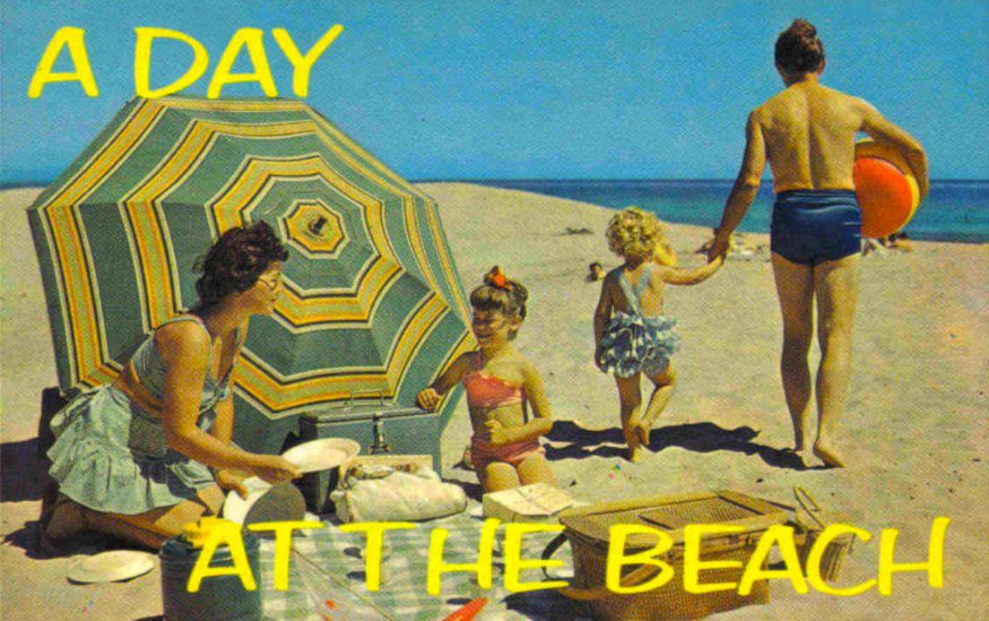 Christian Montone 1940s 60s Postcards Leisure Merriment Wonder Vintage Beach Beach Postcard