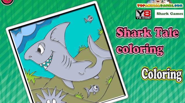 حكاية سمك القرش للتلوين العاب فلاش ميزو Shark Games Shark Tale Shark