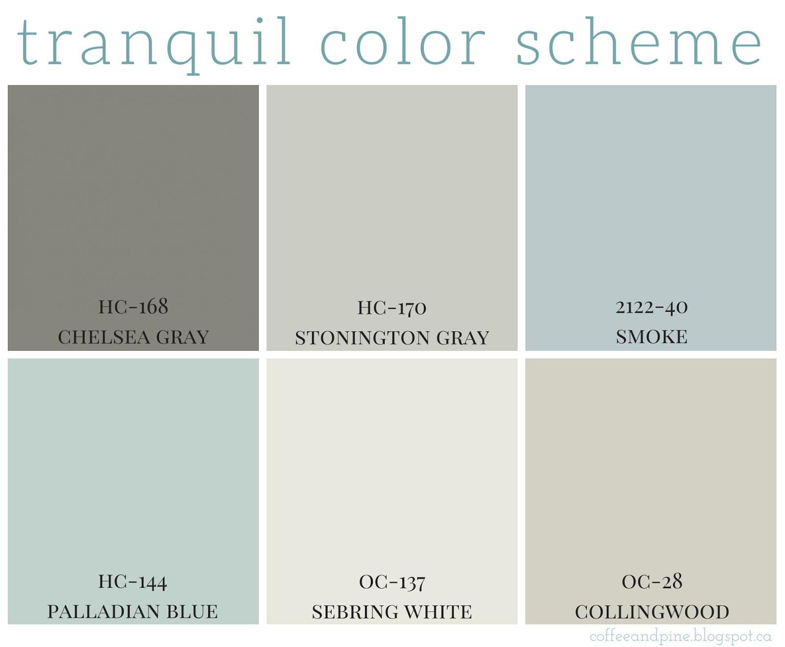 #decor #paint #home Http://coffeeandpine.blogspot.ca/2015/04/tranquil Color  Scheme.html