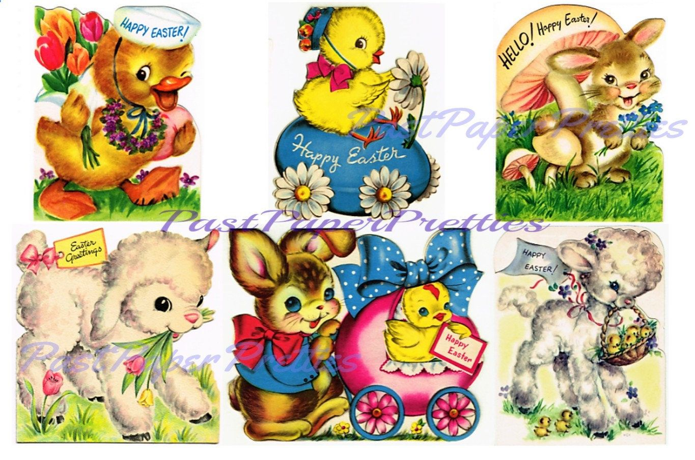 Mint Condition!! Easter Vintage Stickers Paper Art