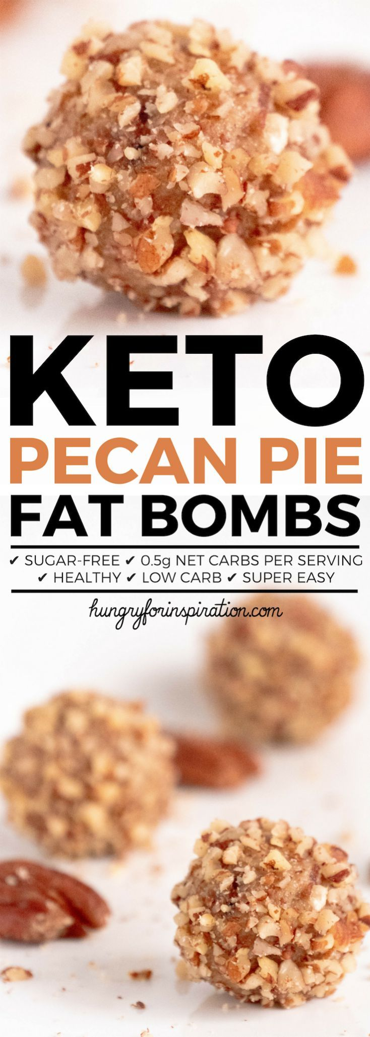 Heavenly Pecan Pie Keto Fat Bombs! Forget that you're on a diet with this easy Keto Dessert or Keto Snack that tastes like pecan pie! Incredibly delicious, easy to make and only 0.5g net carbs per serving! #keto #ketodessert #ketorecipes #ketodiet #ketogenic #ketogenicdiet #lowcarb #ketosnacks #lowcarbdiet #lowcarbrecipes #lowcarbdessert #lowcarbsnacks #ketodesserts