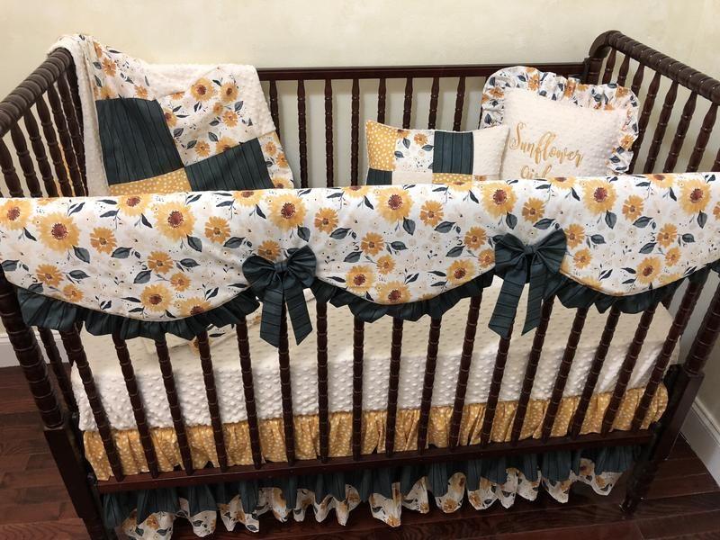 Pin On Baby Elena, Sunflower Crib Bedding