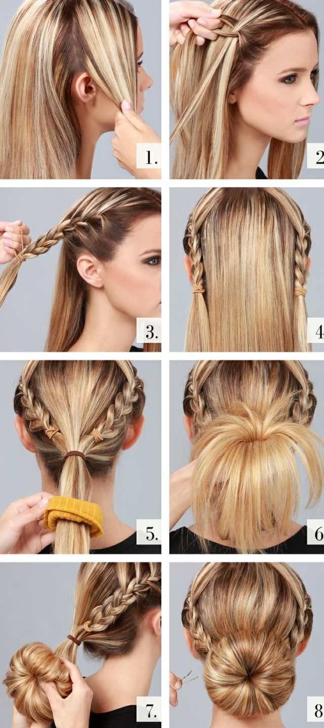 Flechtfrisuren Ideen zwei Seitenzöpfe Haare  Hair  Pinterest