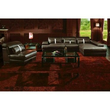 Caen - Contemporary Leather Sectional Sofa - Sectional Sofas