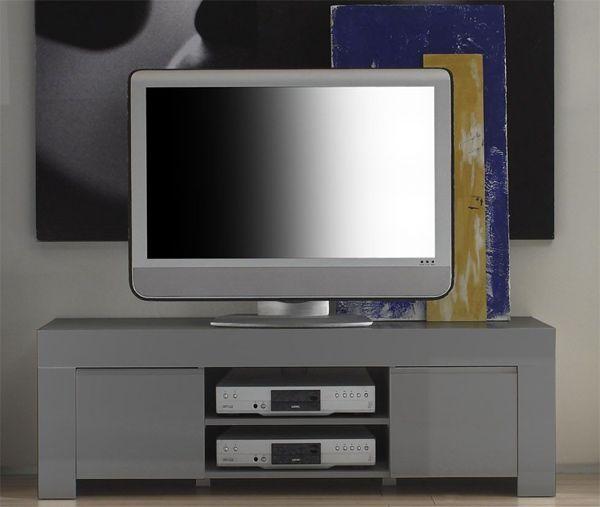 AMALFI LAQUE GRIS Séjours Meubles TV/HIFI MEUBLE TV GRIS- Basika le