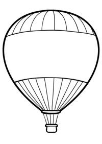 Hot Air Balloon Coloring Pages: