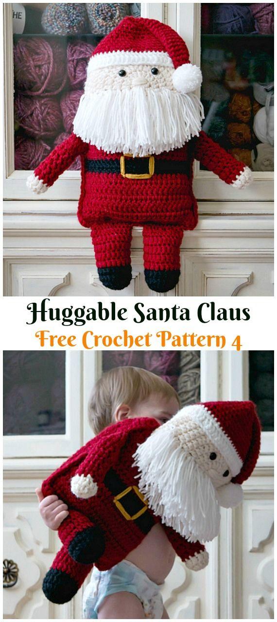 19 Free Amigurumi Christmas Santa Crochet Patterns | Christmas ... | 1280x570