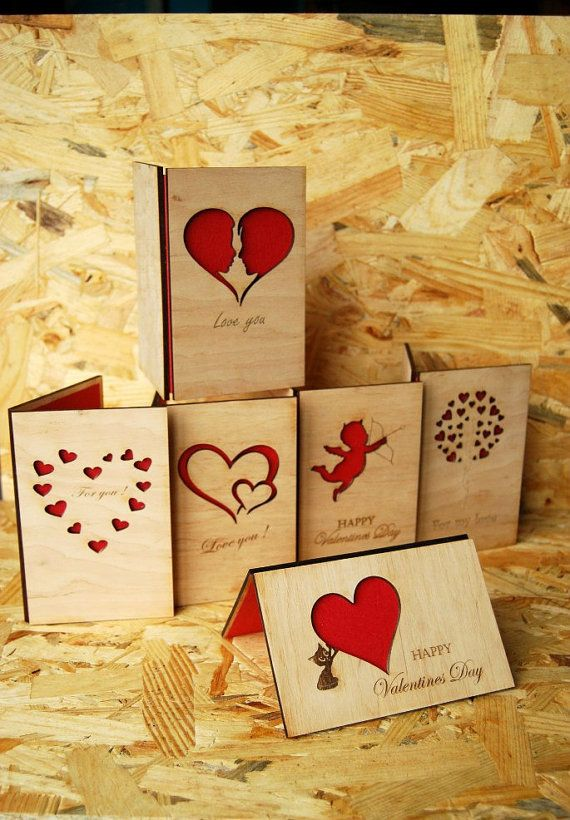 Wood Post Card Wooden Picture Greeting Card Wooden by NataTrade