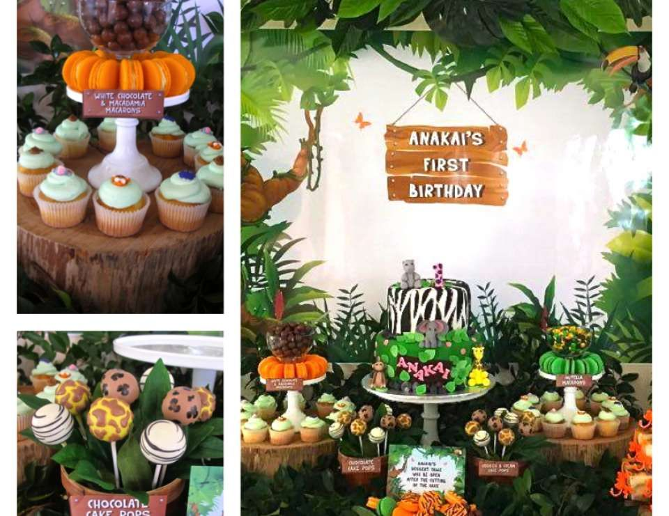 Jungle Themed First Birthday Birthday Jungle Themed First