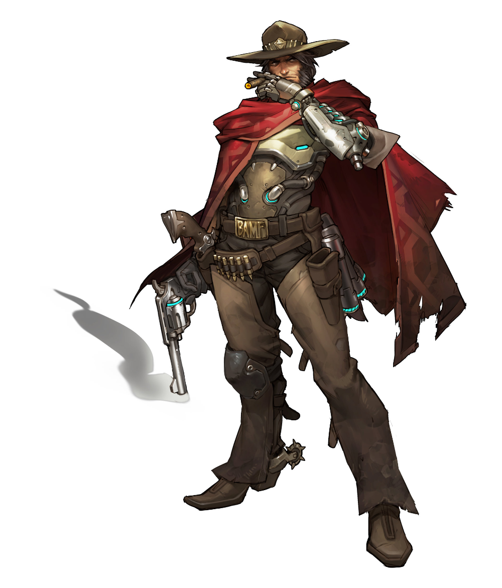 Overwatch Mccree Concept By Arnold Tsang Mccree Overwatch Overwatch Concept Art Characters