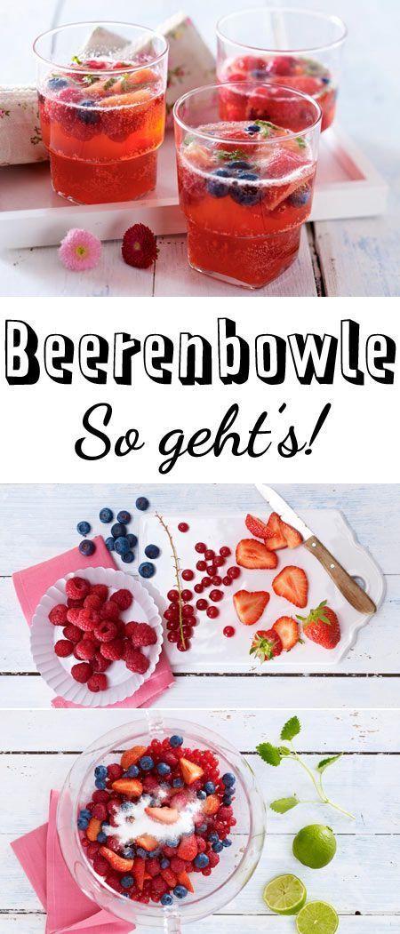 Beerenbowle selber machen - so geht's #alcoholpunchrecipes