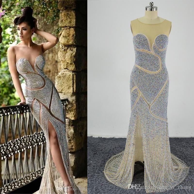 2018 Rami Salamoun Beaded Evening Dresses Luxury Jewellery ...
