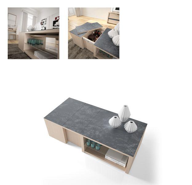 Table basse bar extensible génial par ernest ménard création
