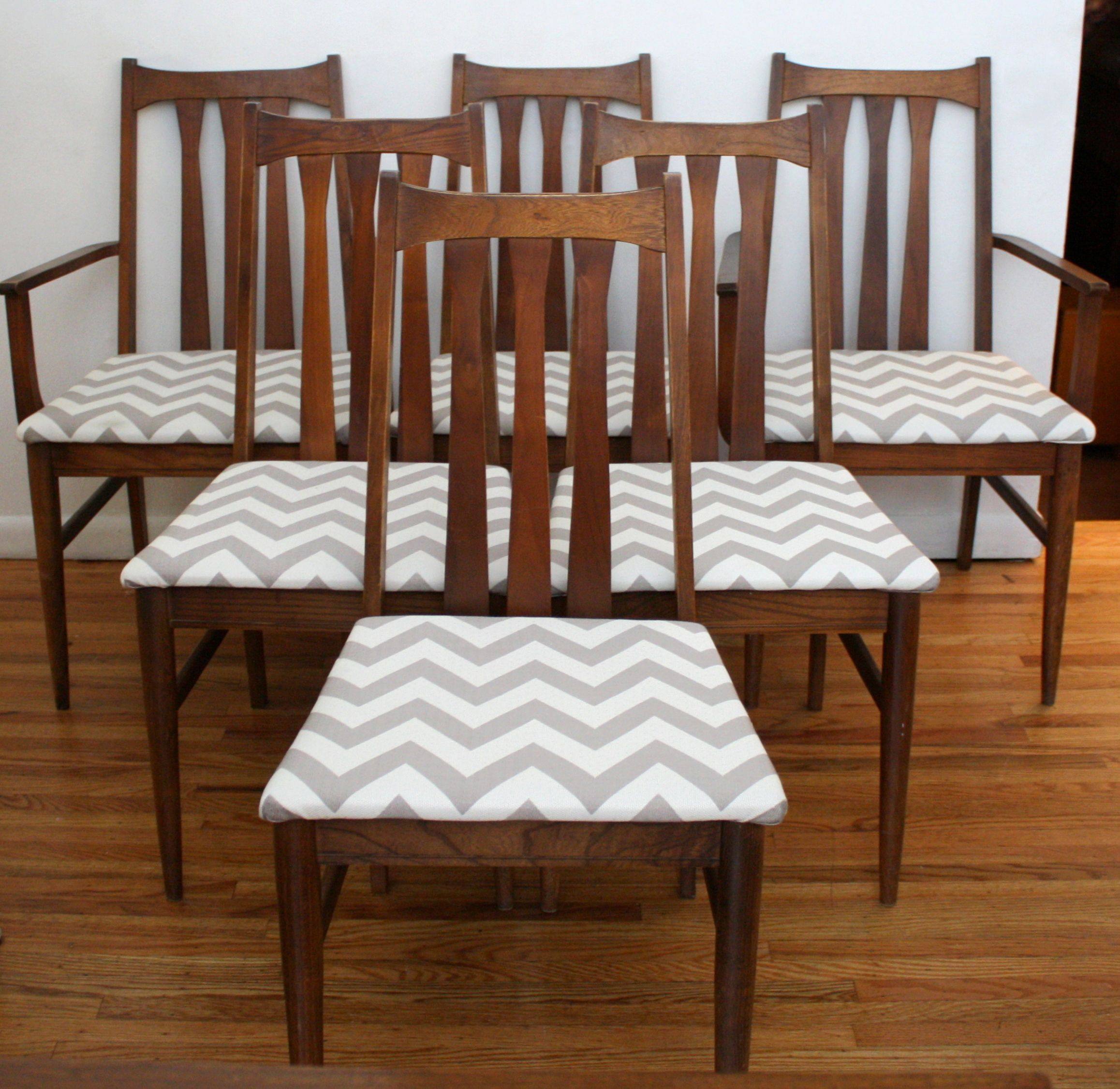 slat back chairs. Mid Century Modern Dining Chair Set With Vertical Slat Backs And Newly Covered Upholstered Seats Back Chairs B