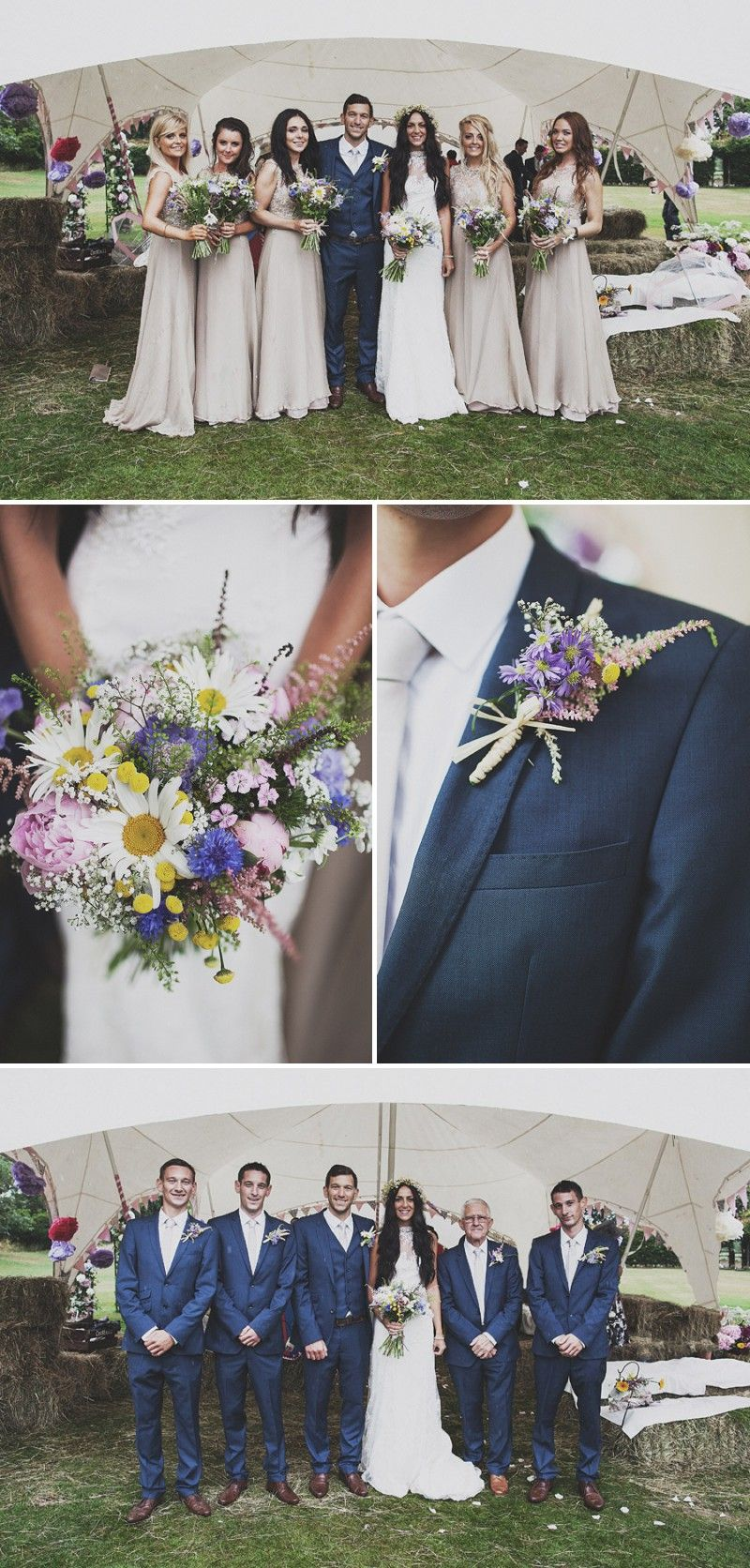 A festival inspired bohemian wedding with wildflowers and a floral