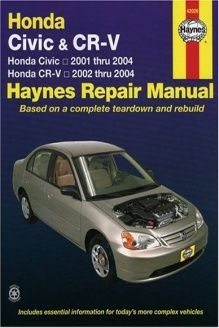 honda civic 2001 2004 cr v 2002 2004 haynes repair manual 978 rh pinterest com 2008 Honda CR-V Honda CR-V ManualDownload