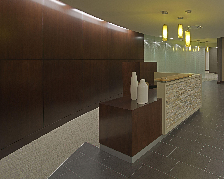 Reception Desk / Ceramic Tile / Pendant / Glass / Curved Wall #SchottDesign