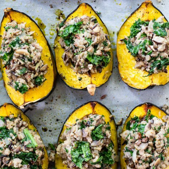 This Sausage And Mushroom Stuffed Acorn Squash Is Going To Become