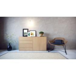 Highboard Buche – Highboard: Schubladen in Buche & Türen in Buche – Hochwertige Materialien – 152 x