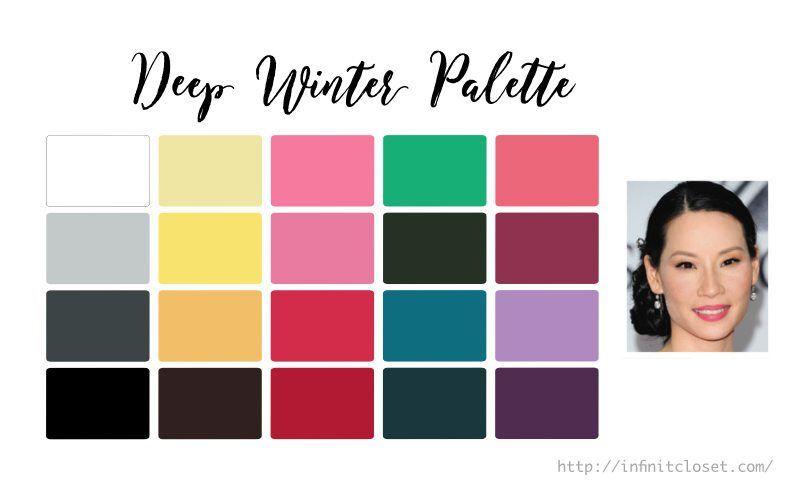 Deep Winter (Dark Winter) Palette ... #colorpalettecopies