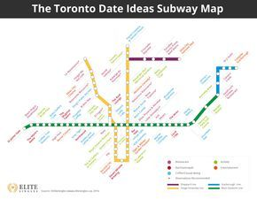 The Toronto Subway Date Map The best date ideas in Toronto near to
