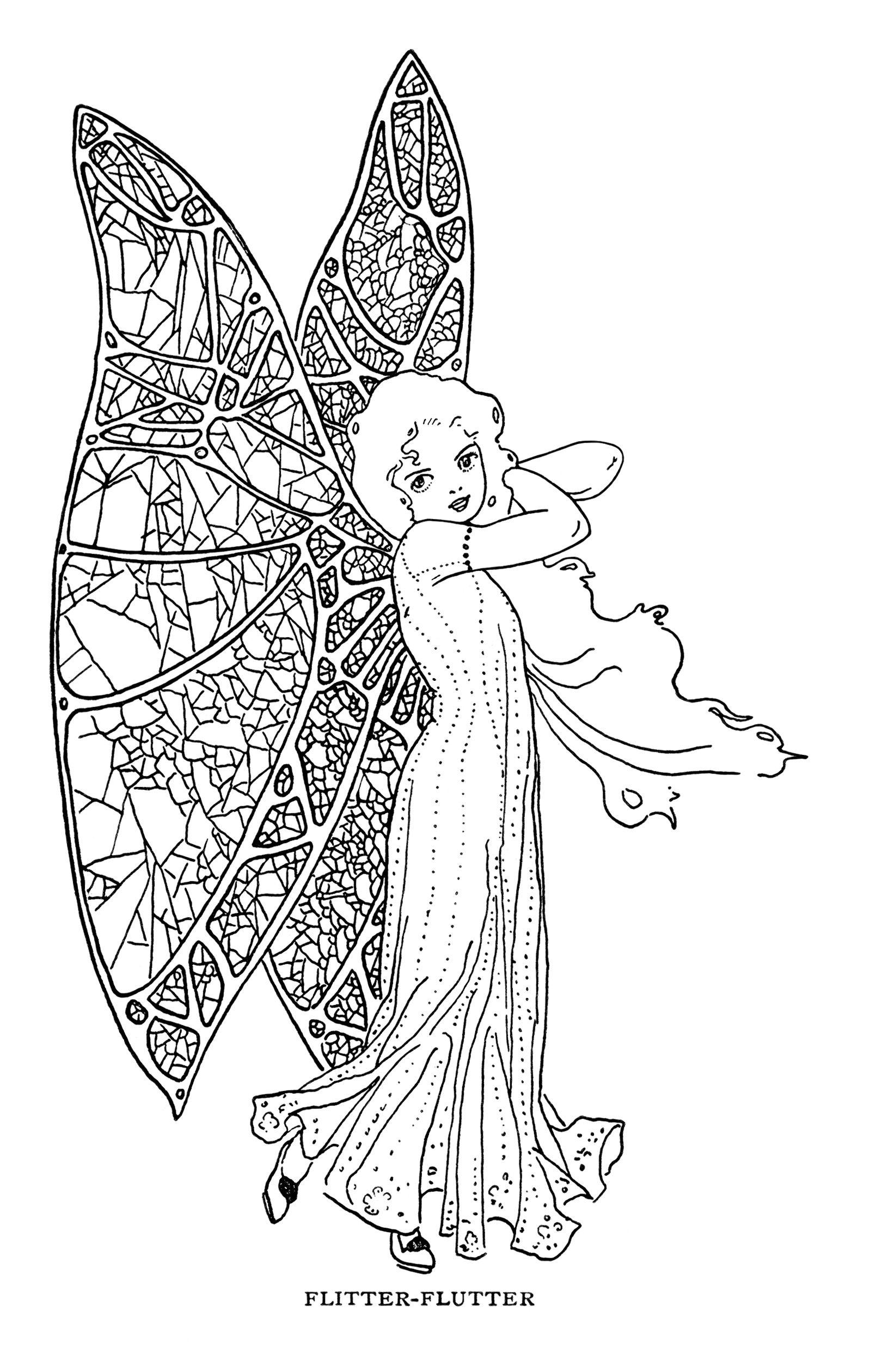 arte de la vendimia clip de hadas, de hadas imagen de la mariposa ...
