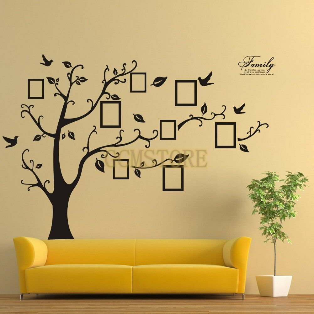 Fashion Removable Black Family Tree Customised PVC Wall Stickers ...